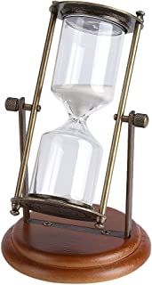 GOTOTOP 15 Minute Hourglass Sand Timer, Europe Retro Style Sand Clock Glass Timer for Kid Time Management and high Intensity Interval Training Games Creative Gifts Room Decor Office Kitchen Decor