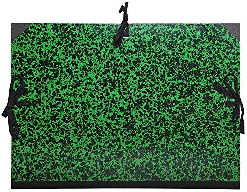 Exacompta 532000E - Carpeta de dibujo annonay con cintas, A3, 32 x 45 cm, verde