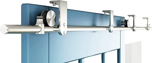 DIYHD 6FT Stainless Steel Flat Roller Ceiling Mount Sliding Barn Door Hardware