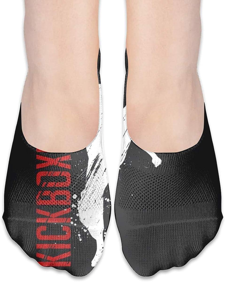 Personalized No Show Socks With Kickboxing Martial Taekwondo Splash Print For Women Men