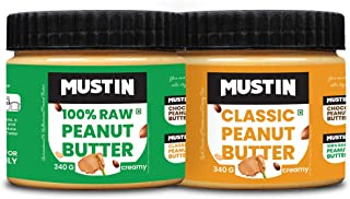 Mustin All Natural Peanut Butter Creamy(340g), Classic Peanut Butter Creamy(340g)