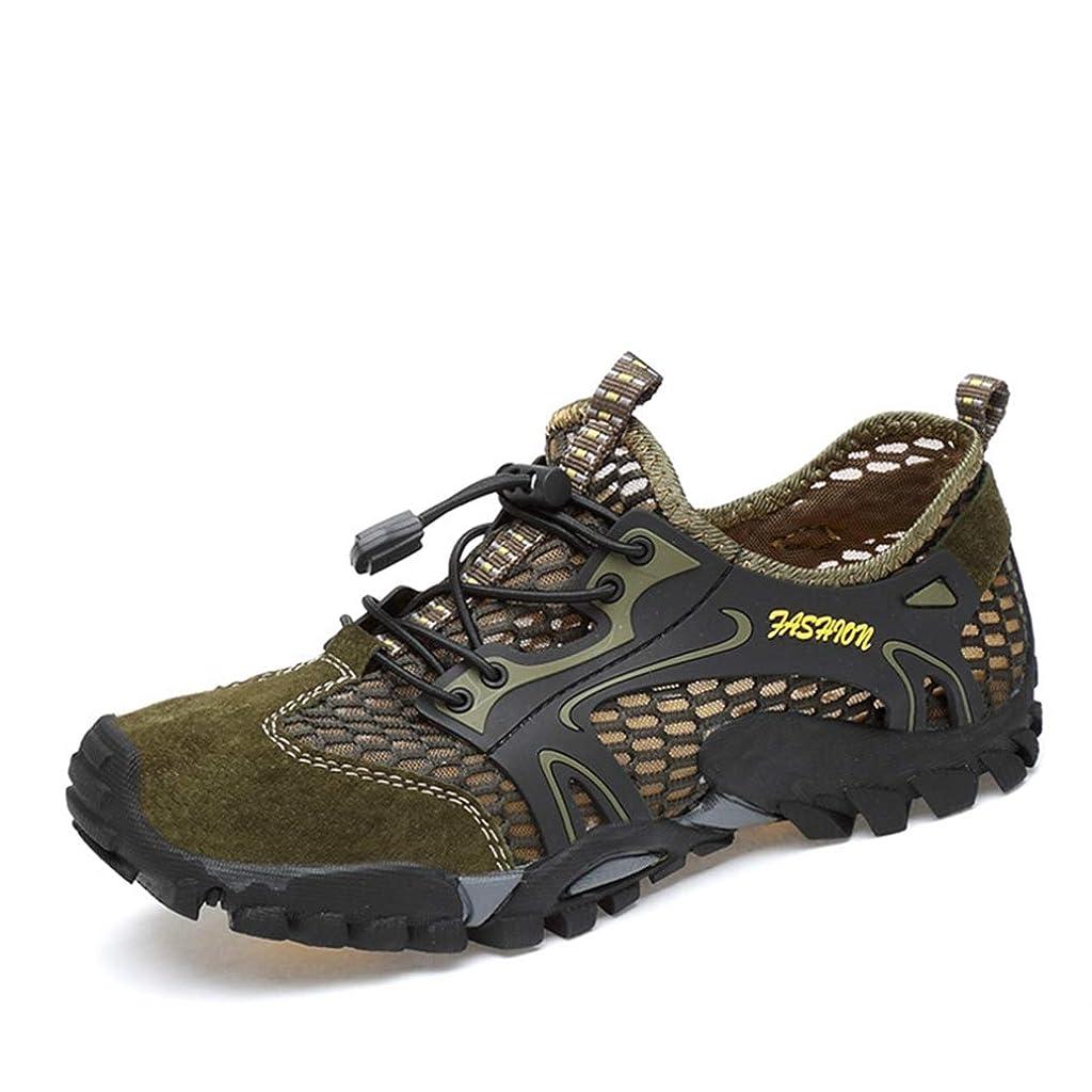 地球アリアリ[Dong] ハイキングシューズ メンズ 水陸両用メッシュ レースアップシューズ 通気 ローカットウォーキングシューズ 軽量 耐摩耗性 衝撃吸収 夏黒 山登り 27cm カジュアルシューズ 登山靴歩きやすい