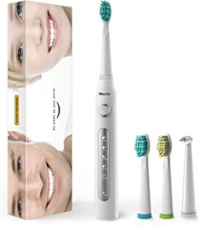 Electric Toothbrush, Sonic Electric Toothbrushes for Adults & Kids, 5 Optional Modes for All Your Brushing Needs with Timer, 4 Hours Charge 30 Days Use, Teeth Whitening &Gum Cleaning by Sboly, SY-507