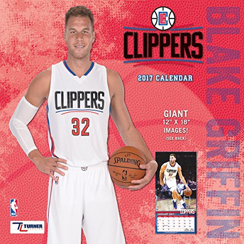 """Turner Licensing Sport 2017 Los Angeles Clippers Blake Griffin Player Wall Calendar, 12""""X12"""" (17998011995)"""