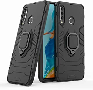 Huawei P30 Lite Case with Kickstand and Hybrid Drop Protection Holder Stand Case Cover for Huawei P30 Lite, Black