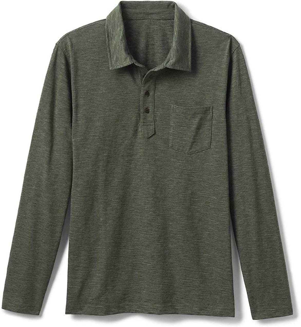 Lands' End 55% OFF Men's Slub Max 70% OFF Long with Shirt Polo Pocket Sleeve