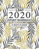 LSAT Study Schedule: 12 Month Planner for the Law School Admission Test (LSAT). Ideal for LSAT prep...