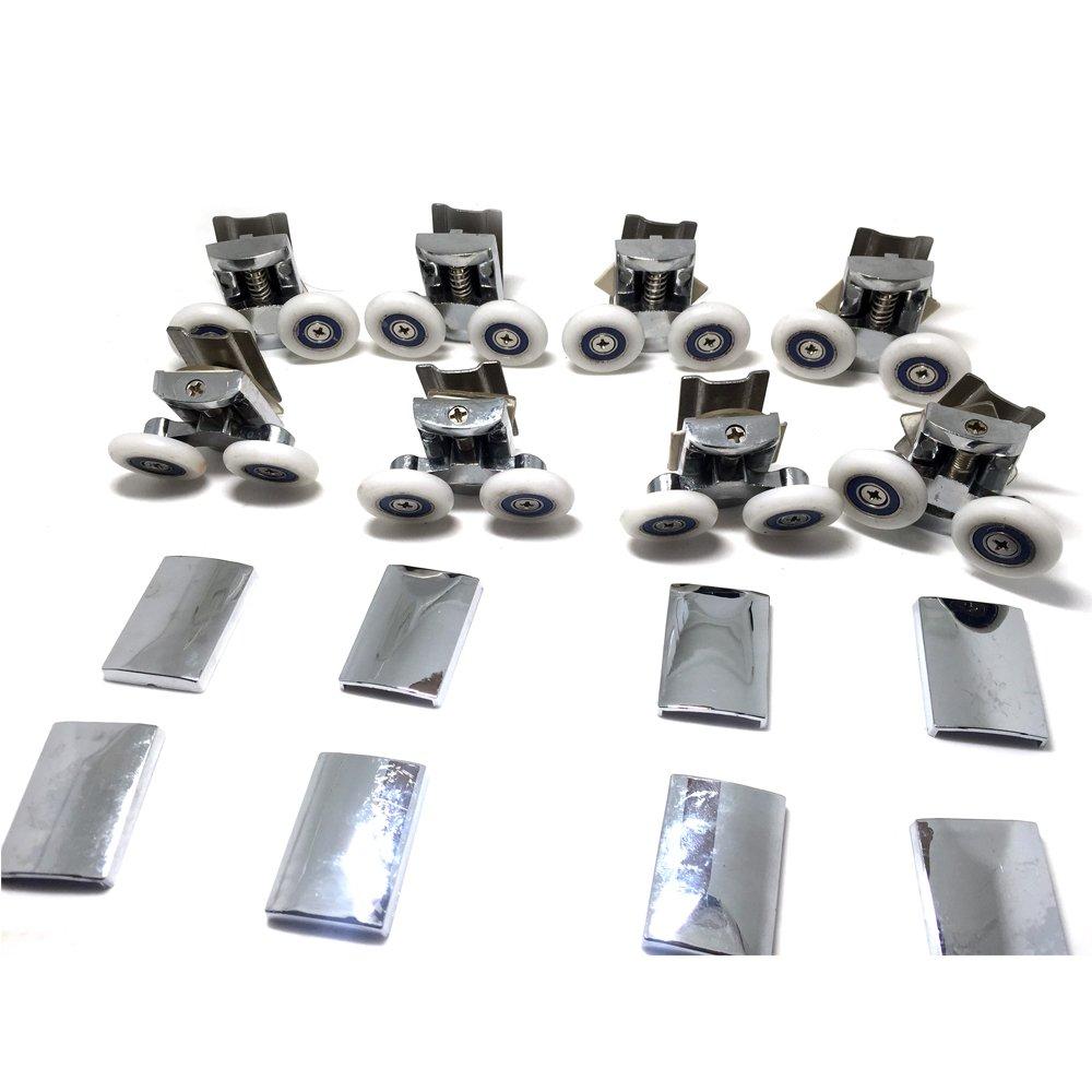 Recambio de ruedas para mampara de ducha cromado – 4 x Top & 4 x para parte inferior de cristal 4 – 6 mm: Amazon.es: Bricolaje y herramientas