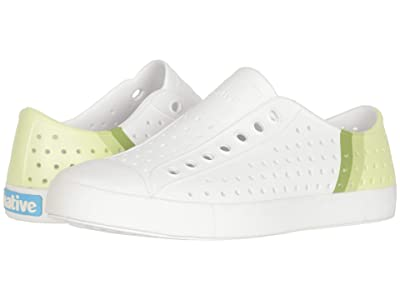 Native Shoes Jefferson Block (Shell White/Shell White/Cucumber Gradient Block) Athletic Shoes