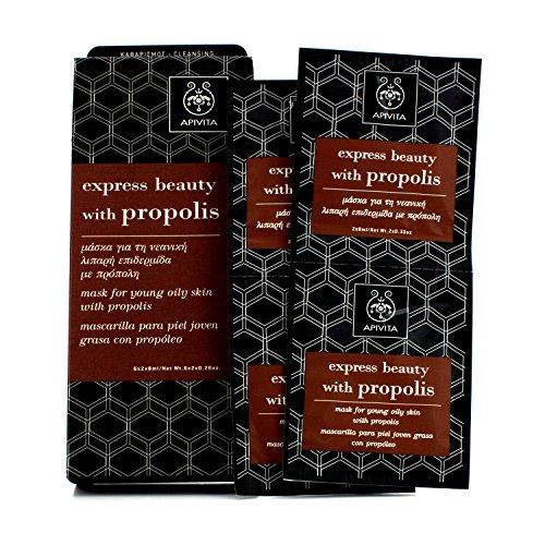Apivita - Express Beauty Mask For Young Oily Skin With Propolis 6X(2X8Ml) - Soins De La Peau