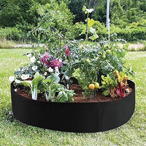 babyzhang Plant Bed Garden Flower Planter Vegetable Box Planting Grow Bag Round Planting Pot for Plants Nursery, 127x30cm