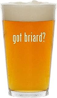 got briard? - Glass 16oz Beer Pint