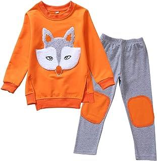 amropi Ni/ñas Conjunto de Sudadera y Leggings Pantalones Animal Print Manga Larga Juego de Ropa para 2-13 a/ños