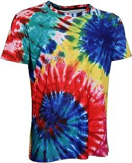 7b75e0d0692 MagiDeal Camiseta Gráfica Teñido Anudado Manga Corta Casual Hippie Top  Jóvenes Hombres Regalo Hermoso