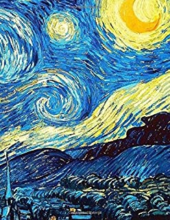 Sketch Book: Large Giant Sketchbook, 600 Pages to Draw, Sketch, Write, Doodle (Van Gogh Painting The Starry Night Cover)