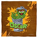 SESAME STREET OSCAR BANDANA - You'll love this 21 in x21 in, 100% polyester bandana. It features a fabric weight of 75 gsm and has a light weight, soft feel. Printed one-sided only. Machine washable. Tumble dry low. HAND PRINTED IN USA - All of our b...