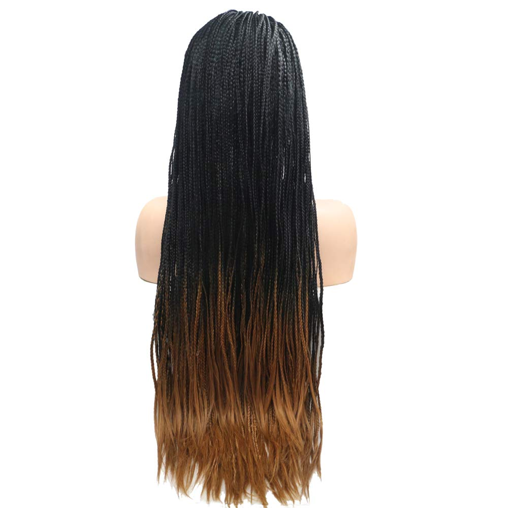 Braided Synthetic Lace Front Wigs Ombre Brown Free shipping anywhere in the nation B for Fashion Washington Mall