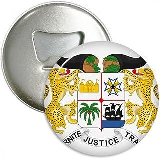 Benín Emblema Nacional - Abridor de botellas redondo, imán de nevera, 3 piezas