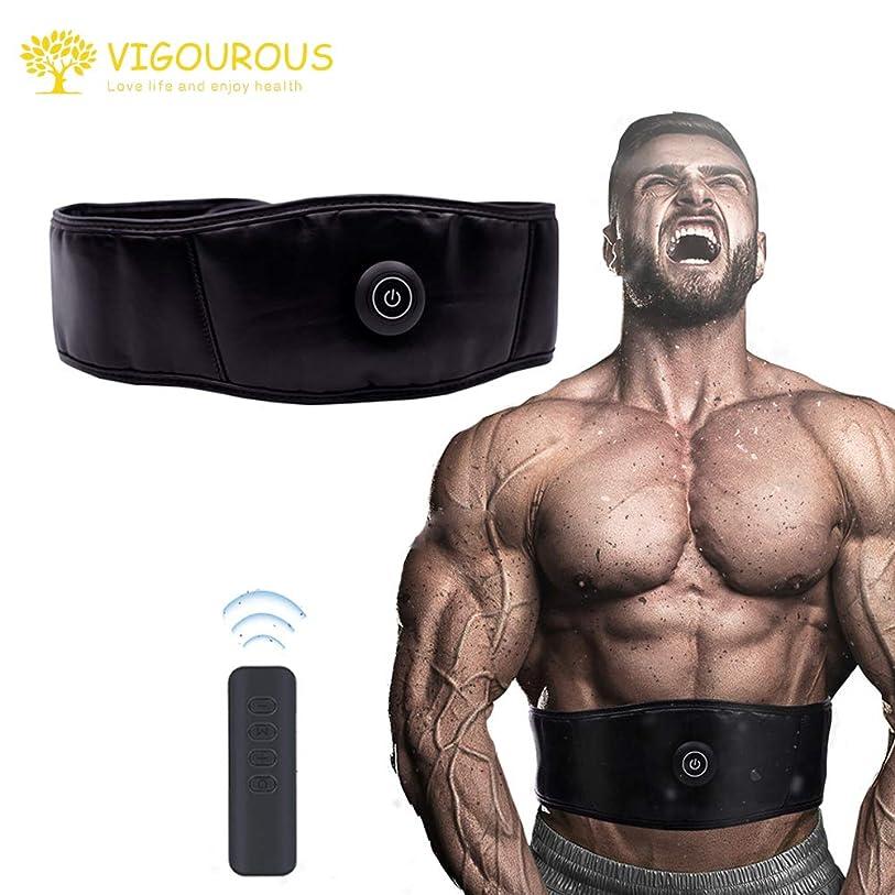 思い出二次信頼性VIGOUROUS 腹筋ベルト ems 腹筋 腹筋マシン 腹筋パッド 筋肉パッド 筋トレ 4つモード、9段階レベル、10分後自動電源オフ リモコン操作 振動マッサージ 筋肉刺激 脂肪燃焼 ダイエット シェイプアップベルト 男女兼用 取扱説明書付き