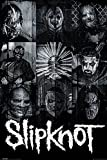 Slipknot - Masks - Musikposter Heavy Metal Hard Rock -