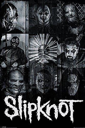 Slipknot - Masks - Musikposter Heavy Metal Hard Rock - Größe 61x91,5 cm