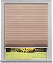 Easy Lift Trim-at-Home Cordless Pleated Light Filtering Fabric Shade Natural, 36 in x 64 in, (Fits windows 19