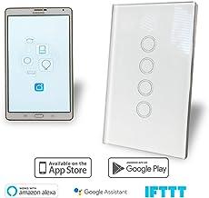 WiFi Smart Light Switch 4 Gang Glass Panel AU Approved Google, Alexa, IFTT Compatible