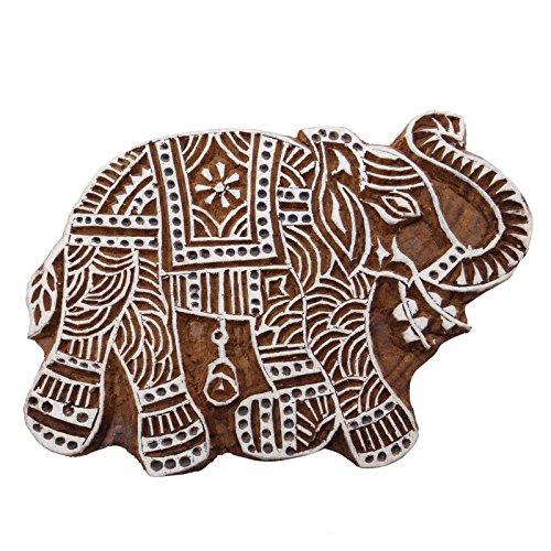 Wooden Textile Dekorative Elephant Drucktype Hant Hand geschnitzte Stempel