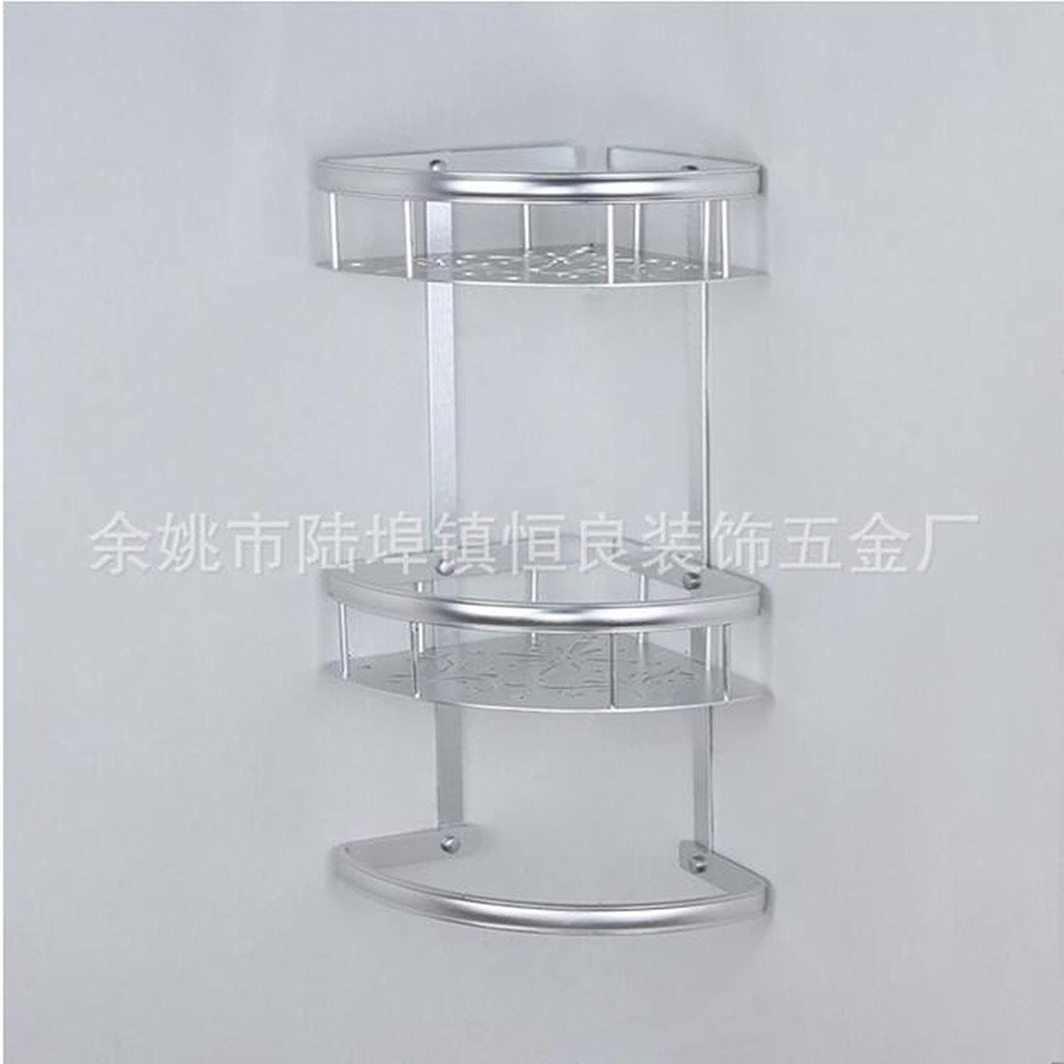 Three-tier bathroom shelf kitchen hardware multi-functional rack bathroom corner shelf wall mount triangle shelf basket