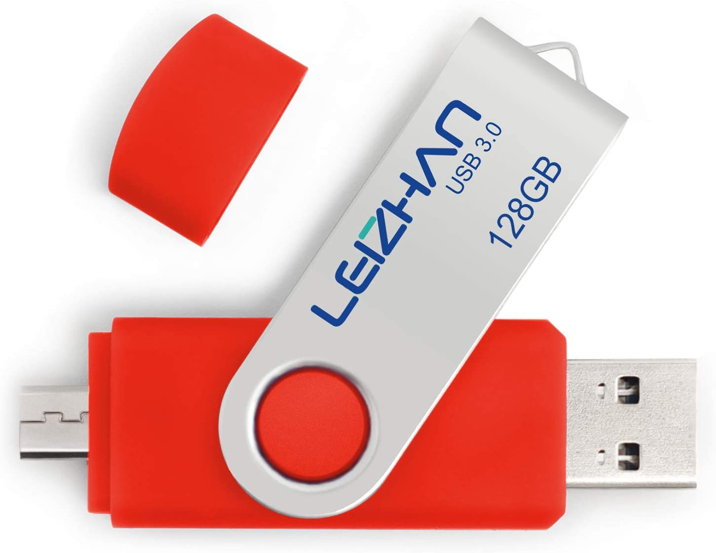 LEIZHAN 128GB USB Flash Max 63% OFF Drives Po Drive safety Micro with Dual-Port