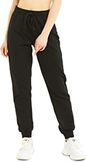 "30""/32""/34"" Inseam Tall Regular Women Casual Sweatpants, Cotton Jogger Pants, 3 Pockets"
