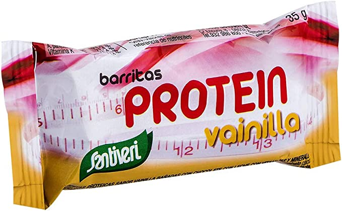Barritas energéticas de Santiveri sabor vainilla (16 barritas 35 gr) con con alto aporte de hidratos de carbono de rápida absorción