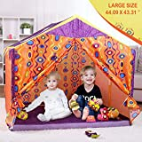 Yoole Princess Castle Play Tent Large-Kids - Playhouse Large for Girl Indoor & Outdoor Games,Roomy Enough for 2-3 Little Girls Play Together