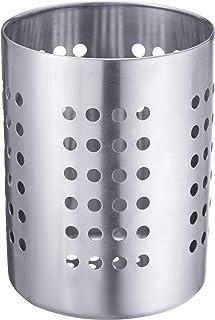Westmark Egouttoir à Couverts/Porte-Ustensiles, Rond, Diamètre: 10 cm, Hauteur: 13 cm, Acier Inoxydable, Argent, 69012211
