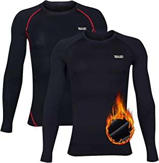 TELALEO Youth Boys' Compression Thermal Shirt Fleece Baselayer Long Sleeve Crew NeckTop