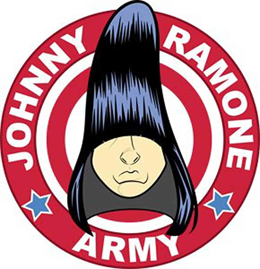 Ramone Johnny Music Band Patch -Big Hair Round Logo - Applique
