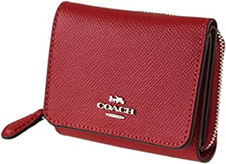 Crossgrain Leather Tri-Fold Wallet Cardinal Red F37968