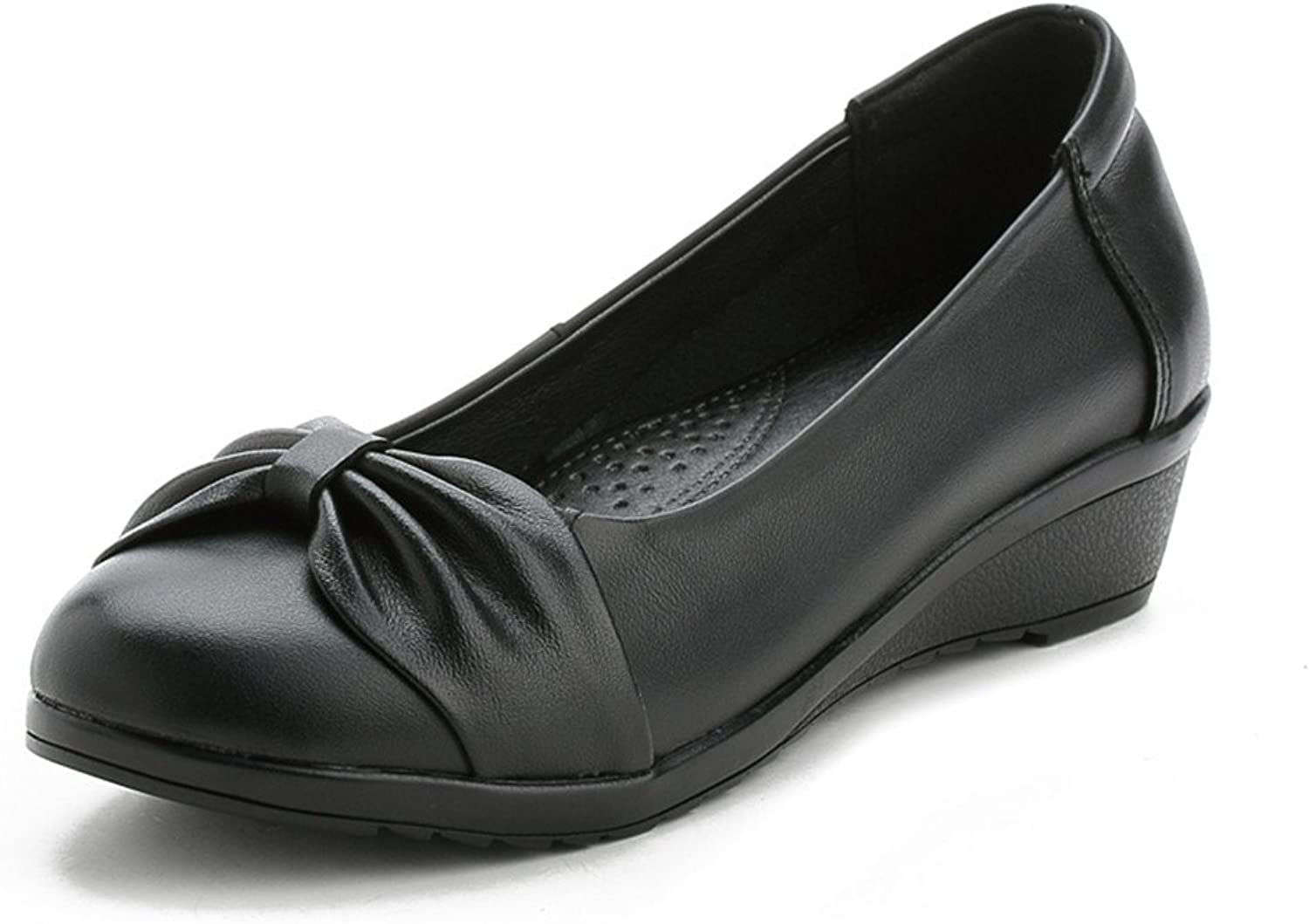 XDX Taste Of Life Women shoes Genuine Leather Soft Wedge Pumps