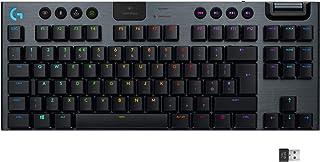 Logitech G915 TKL Tenkeyless Lightspeed Wireless RGB Mechanical Gaming Keyboard,Tactile switches,Low Profile Switch Option...