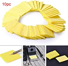 10Pcs Welding Soldering Iron Tip Replacement Sponge Solder Cleaning Pads Durable Lightweight High Temperature
