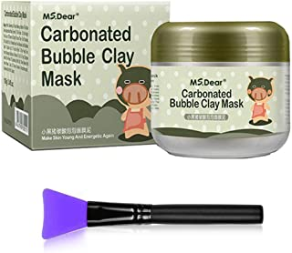 Best HailiCare Carbonated Bubble Clay Mask 3.52oz + Bamboo Charcoal Cleansing Brushes (Mask+Brush) Review