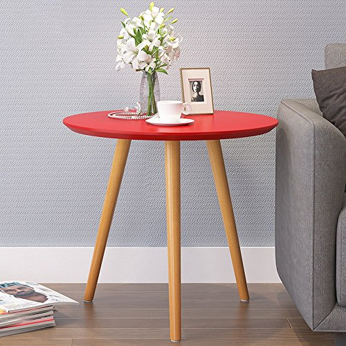JYKJ houten tafels, minimalistische bank hoekkast mobiele telefoon tafels ronde tafels salontafels Casual salontafel, Rood