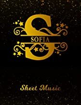 Sofia Sheet Music: Personalized Name Letter S Blank Manuscript Notebook Journal | Instrument Composition Book for Musician & Composer | 12 Staves per ... | Create, Compose & Write Creative Songs