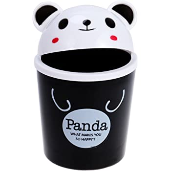 Toymytoy desktop Trash can Cartoon animali cestino rifiuti contenitore mini Garbage organizer 3 Black Panda