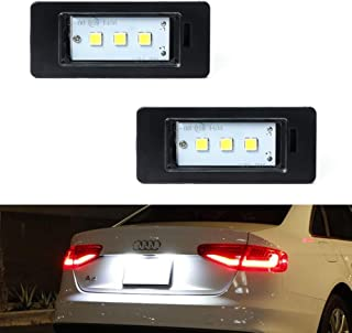 GemPro 2Pcs LED License Plate Light Lamp Assembly For Audi A1 A4 A5 A6 A7 S5 Q5 RS5 TT TTRS, Powered by 3SMD Xenon White LED Lights