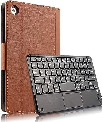 Jamicy  Tastatur f r Huawei M5 8 4 Zoll MediaPad  Englisch Layout  Bluetooth Keyboard Case Wiederaufladebarer Tablet Tastatur  Wireless Tastatur mit Standfunktion Slim Flip