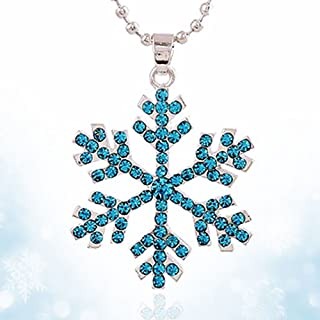 New Gift Fashion Frozen Snowflake Elsa Pendants Necklace Jewelry Girls Gift