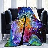 Winter Sparkle Original Madart Gemälde Sherpa Decke Bequeme Flanell Fleece Decke Bequeme Decken Durable Warm Sofa Decke, 102X127 cm