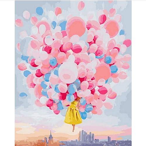 DIY Bild  em e nach Zahlen maßen nach Zahlen für wohnkultur leinwand gem e Ballon fliegen 70x90cm gerahmt