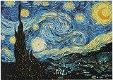 Mini Puzzles de 1000 Piezas en Miniatura DIYpara Adultos Noche Estrellada de Madera Resistente Desafío del Ejercicio Cerebral Juego de Alta dificultad Regalo para Niños 52 * 38cm